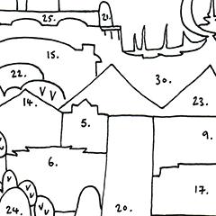 Boston Cityscape Map